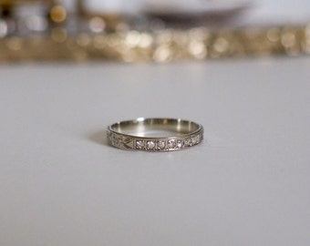 vintage 7 diamond wedding band