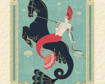 Hippocampus & Mermaid