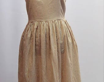 1980s Laura Ashley pinafore style summer on SALE  dress with stripes and belt UK vintage size 12 WAS 28.50 now 22.50
