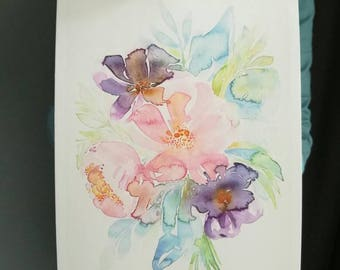 Summer Morning Symphony - A fine art print of my watercolor painting