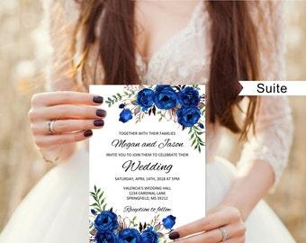 Royal blue wedding | Etsy