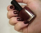 Blood Rush -  A 5free, 100% cruelty free, vegan friendly and completely handmade burgundy-red creme polish