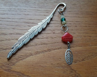 Beaded Bookmark, Feather Edition Two.