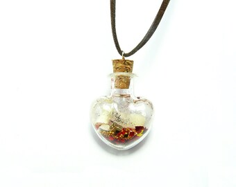 Necklace/Pendant: Message in a Heart-bottle