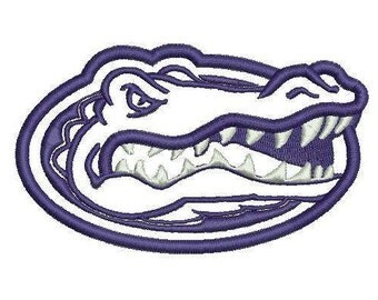 florida gators logo outline. 5 sizes florida gators applique design embroidery machine logo outline g