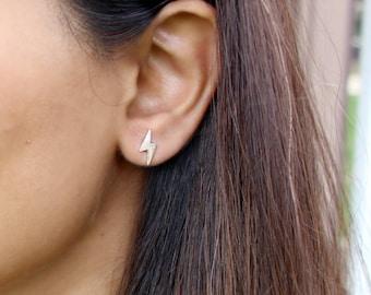 Lightning Earrings Harry Potter Earrings Thunderbolt Earrings Zig Zag Earrings Bolt Earrings Lightning Studs Harry Potter Studs Edgy Earring