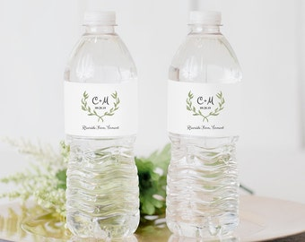 diy wedding water bottle labels. diy wedding water bottle labels