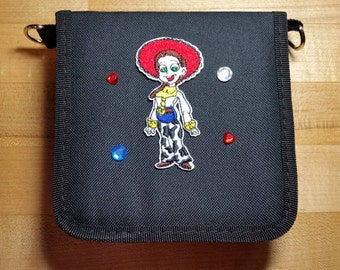 Toy Story Inspired Jessie Trading Pin Bag (iheartpinbags.com)