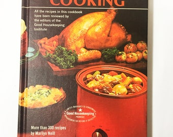 Rival Crockpot Cooking by Marilyn Neill.  Golden Press Cookbook. Slow Cooker Recipes.  Vintage Crock-Pot Recipes.  Good Housekeeping