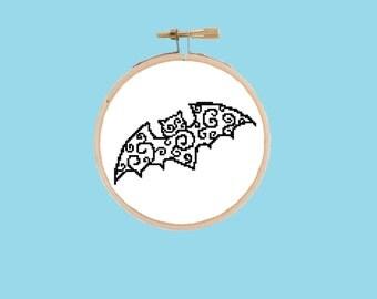 Bat Cross Stitch Pattern - PDF Digital Download