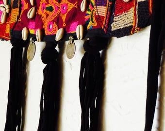 Bellydance Belt pink and orange color/Tribal fusion/Tribal dance adornement/Ceinture DanseTribale