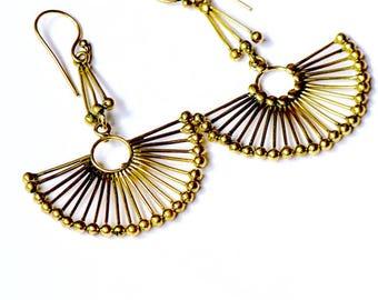 Mariama brass earrings/Boho earrings