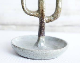 """Ceramic Cactus Ring Holder """"JEWELS"""""""