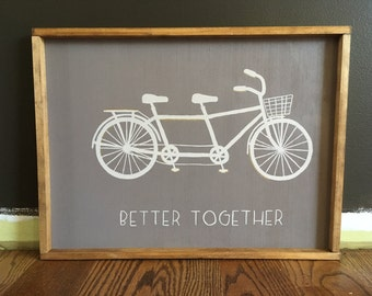Tandem Bike Painting / Better Together
