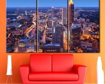 Atlanta wall art, Atlanta canvas, Wall art canvas, Wall art decor ideas, Wall decoration, Multi Panel Wall Decor, Multi panel art, Wall art