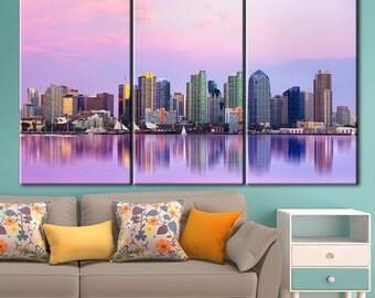 San Diego Canvas, San Diego Wall Art, Wall Decor, Home Decor, Stretched