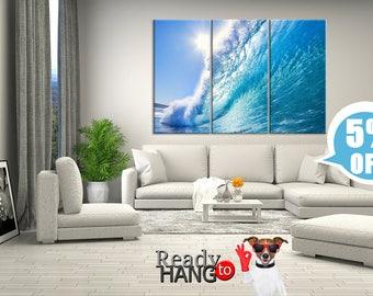 Surfing Waves, Ocean canvas art, Wave canvas, Ocean wave canvas, Ocean canvas print, Ocean waves, Waves canvas art, Wave wall art