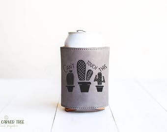 Cactus Can Holder, Funny Gifts, Can't Touch This Cacti Beverage Cooler, Beer Holder, Can of Beer, Soda, Gift for Friend, Gag Gifts, Fun