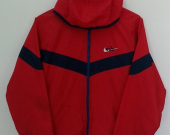 NIKE Windbreaker Fleece// Reversible Hoodie//Raglan//Size M//Multi-Color