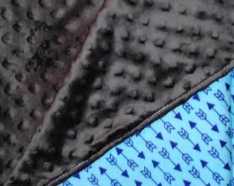 Blue Arrow Baby Blanket