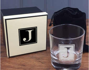 Personalised Engraved Whisky Tumbler with Matching Gift Box