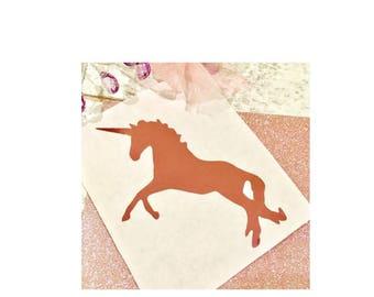 Unicorn stickers, Unicorn favor bag stickers, Unicorn birthday