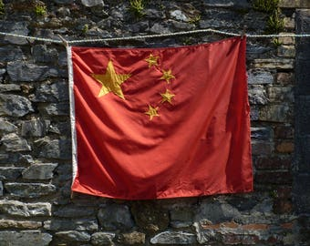 Curious Chinese Flag. Naval Flag. Maritime National Flag