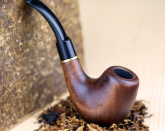 Tobacco pipe-Smoking Bowl-Wooden pipe Handcrafted-Limited Edition-Tobacciana pipe-Exclusive Wood Pipes-Smoking Pipe-Wood carved smoking pipe