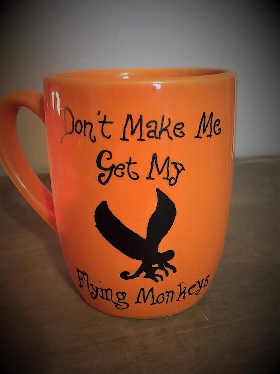 Coffee Mug, Flying Monkey, Large Coffee Mug, Funny Coffee Mugs, Gifts for Coffee Lovers, New Home Gifts, Hand Painted Gifts, Custom Gifts