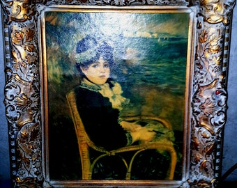 Vintage Renoir By the Seashore oil on Canvas Print