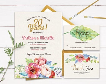 wedding anniversary invitations silver glitter. Black Bedroom Furniture Sets. Home Design Ideas