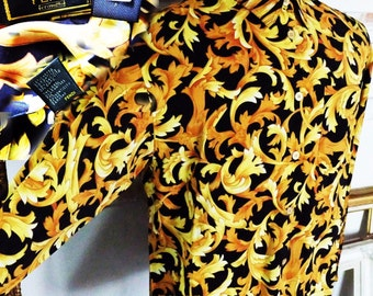 RARE Vintage Luxury Authentic FENDI Casual Shirt Multi Color Made in ITALY Collectibles