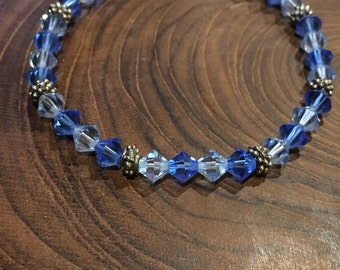 Ocean Blue Swarovski Crystal Bracelet