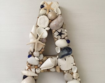 Beach Wedding Decor, Seashell Letters, Decorative Letters, Beach Decor, Coastal Beach, Beach House, Custom Letters, Nautical Decor