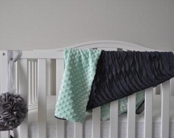 Ruffle Baby Blanket