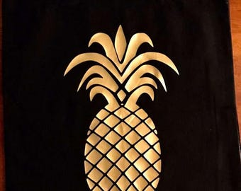 Cotton Tote Bag- Pineapple