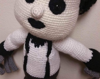 Edward Scissorhands Crochet Doll made to order (mini size available also on site)