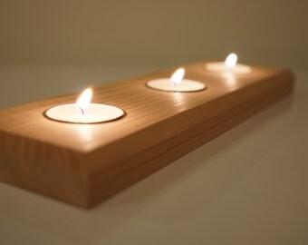 Cedar Tealight Candle Holder