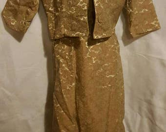 Shoyer 1950s dress suit - Vintage - Rare Oatmeal color