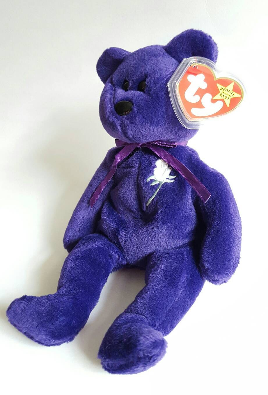 RARE 1st Edition 1997 TY Princess Diana Beanie Baby Made in