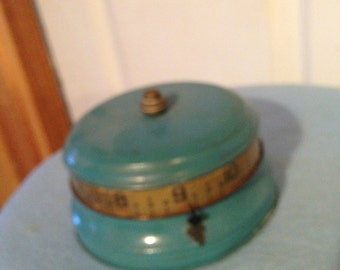 vintage tape measure clock