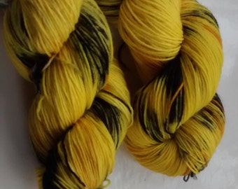 Yellow Car: 4-ply superwash sock