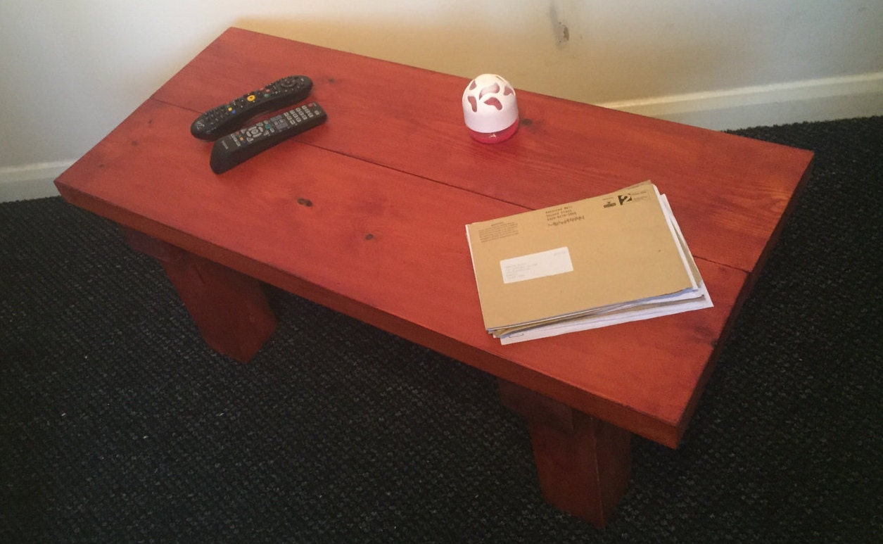 Coffee Table Solid Wood Various Sizes By Uniquerusticbyjoshua