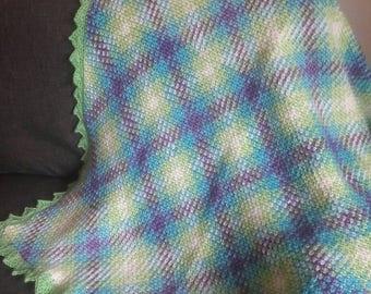 Baby blanket, crochet baby blanket, baby blanket boy, baby blanket girl, green baby blanket, baby afghan, crochet blanket, crochet afghan