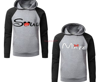 Couple Hoodie - Soul Mate - 2 Couple Hodies - Matching Love Hoodie Valentines Day the Best Gift Girlfriend Boyfriend  Ask a question