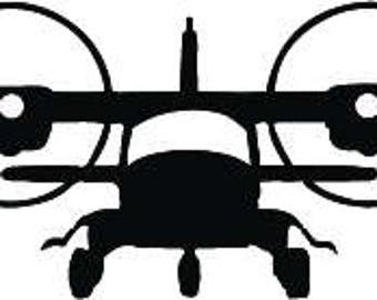 """2.5x 9"""" twin engine aircraft decal"""