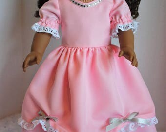 Pink fancy dress, Special Occasion dress, Fits 18 inch American Girl doll, Fits American Girl