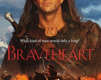 Braveheart,  Mel Gibson, Braveheart Movie Poster - Brave Heart  Braveheart  Print - 12x18 - 24x36 (JS1261)