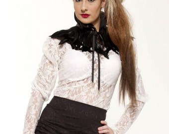 Whitby Feather Shoulder collar