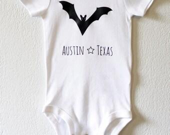 Bat, Austin Texas infant bodysuit